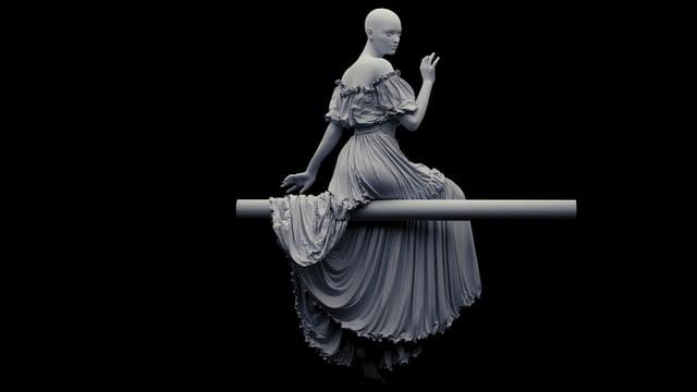 Cloth simulation, clothes modeling, CG Faun Demo Reel, Marvelous Designer, Houdini
