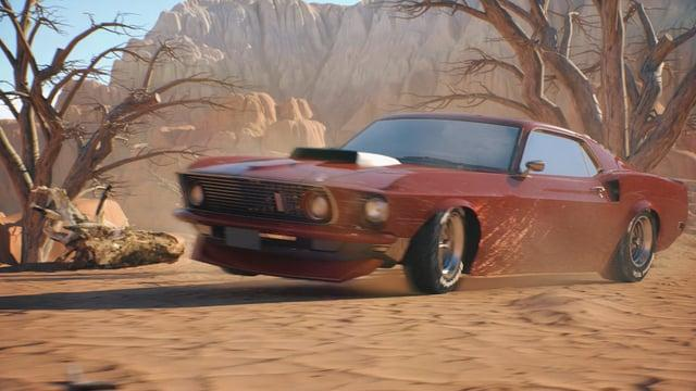Car in desert (C4D,Arnold,Houdini,World Machine)