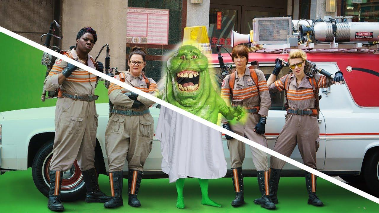 Amazing Before & After Hollywood VFX Ghostbusters