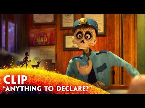 """Anything to Declare?"" Clip - Disney/Pixar's Coco - November 22 in 3D"