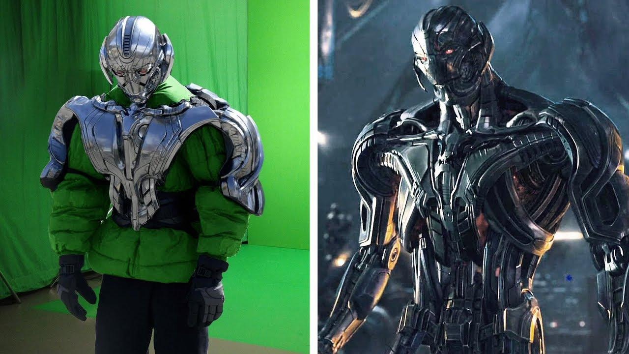 Amazing Before & After Hollywood VFX: Avengers - Age of Ultron