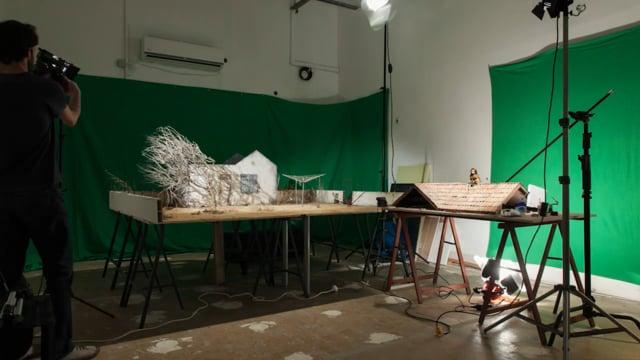 Lili takeoff - making a stop motion set